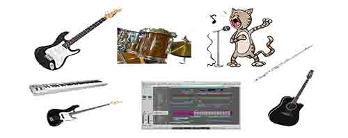 Music Instruments I Play white n smaller